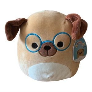 """Squishmallow Daryl the Dog with Blue Glasses 8"""""""
